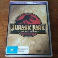 Jurassic Park Ultimate Trilogy DVD R4 Like New! FREE POST