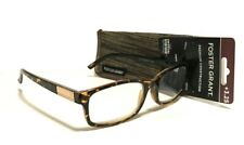 NEW Foster Grant READING GLASSES +3.25 & Case Brown Tortoise Clear Crystal
