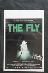 Original David Cronenberg 'Fly' One Sheet Movie Poster Folded 1987
