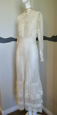 Antique Edwardian Dress Ca 1910 French Net + Lace Gorgeous!!