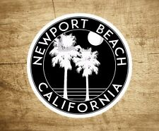 "Newport Beach California Sticker Decal Beach Ocean Surfing Vinyl 3"" x 3"" Surfer"