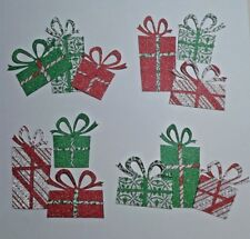 Christmas Retro Gifts Embellishments Die Cuts Scrapbook Card Making Crafts 12pc.