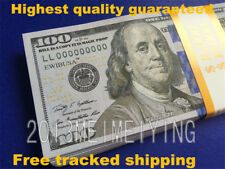 100x $100 Bills Fake Copy Replica Prank Funny Gift Game Movie Play