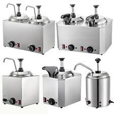Nacho Cheese Dispenser Withheated Spout 1 Or 2 Pump 26qt Hot Fudge Caramel Warmer