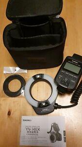 YONGNUO YN-14 EX TTL LED Ring Flash Light Macro for Canon EOS