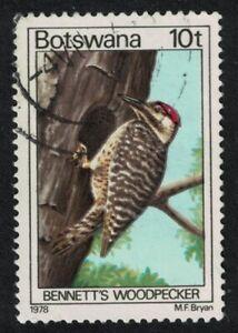 Botswana Bennett's woodpecker Bird 10t 1978 Canc SG#417