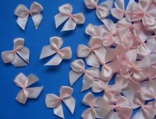"Lots 50pcs Pink Satin Ribbon Bows Appliques DIY-1-1/8"" (W) -R0026K"