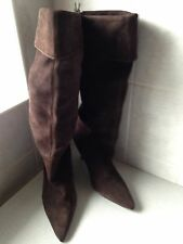 New Ladies Suede Brown knee length boots Size 7