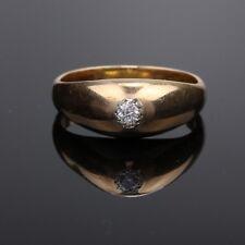 Vintage Estate 18K Rose Gold Diamond Ring