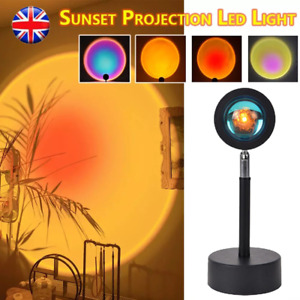 LED Lamp Rainbow Sunset Projection Night Lights Bedroom Atmosphere Table Decor