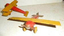 Wooden / Tin Strombecker Wwi style fighter planes (2) airplane Lot #12