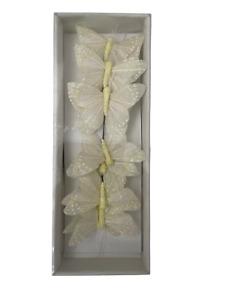 Glitter Butterflies 12 Pack - Medium Decor Centrepiece Party Wedding Floral