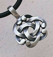 Insular art Norse Viking Irish Celtic knot Pagan Wiccan Wicca Pewter Pendant