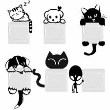 DIY Funny Cute Cat Dog Switch Stickers Wall Stickers Home Decoration Bedroom New