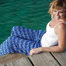 RAYON CARIBEAN BEACH PANTS - BLUE -X LARGE ON SALE NOW!