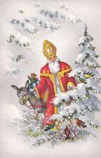 I1048 Illustrated Santa Claus, Sinterklaas postcard