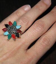 Originale Anello Bijoux con pietre colorate - etnico