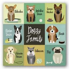 Art Print Doggy Family Jenn Ski