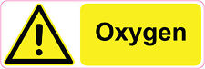 OXYGEN health  & safety signs/stickers 300 x 100mm