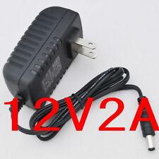 AC Converter Adapter DC 12V 2A Power Supply 24W US plug DC 5.5mm 2000mA LED CCTV