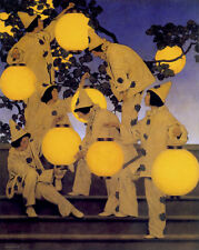 Maxfield Parrish Lantern Bearers 22x30 Hand Numbered Ltd. Edition Art Deco Print