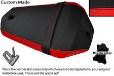 Negro Y Rojo Custom Fits Yamaha R 125 08-12 Yzf Trasero necesidades cubierta de asiento