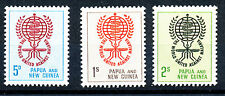 PAPUA & NEW GUINEA 1962 MALARIA ERADICATION SG33/35 IMPRINT BLOCKS OF 4 MNH