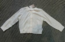 Baby Gap Toddler Girls Light Weight White Cotton Sweater - Size 2 Years - NWT