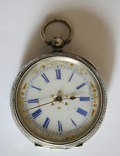 Very Beautiful Silver Antique Women's Pocket Watch key Wind
