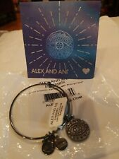 Alex and Ani Color Infusion - Evil Eye Bangle (Midnight Silver) Bracelet NWT