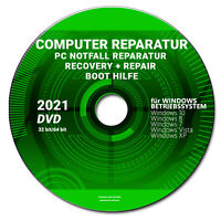 🎯 PC NOTFALL REPARATUR RECOVERY+REPAIR BOOT WINDOWS 10 bis XP DVD   PC booten