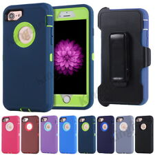 Rugged Shockproof Armor Case Cover For iPhone & Samsung, Belt Clip Fit Otterbox