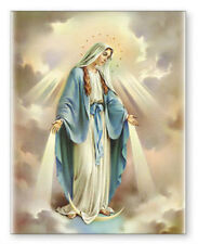 LARGE OUR LADY VIRGIN MARY CANVAS - PICTURES CANDLES STATUES CRUCIFIXES LISTED
