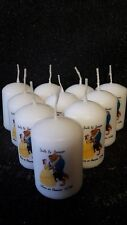10 personalised beauty and the beast candle wedding favours with organza bag