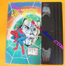 VHS film LE MERAVIGLIOSE AVVENTURE DE L'UOMO RAGNO 2 animazione (F134) no dvd