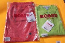 1 Ea Nwt Boast Men's Tennis/Swim Trunks Large Orange & Polo Shirt With Pot Leaf