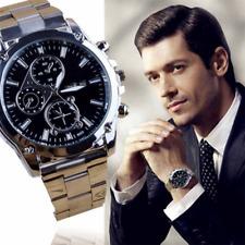 Luxury Men's Date Fashion Stainless Steel Sport Army Analog Quartz Wrist Watch