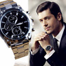Fashion Men's Luxury Date Stainless Steel Army Sport Analog Quartz Wrist Watch