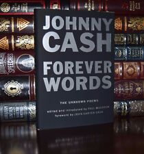Forever Words Unknown Poems by Johnny Cash Illustrated Brand New Gift Hardcover