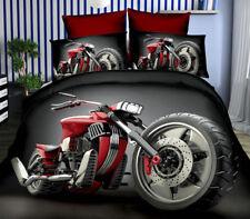 3 tlg.3D Effekt Bettwäsche Bettbezug Bettgarnitur 155x200cm Harley-Davidson