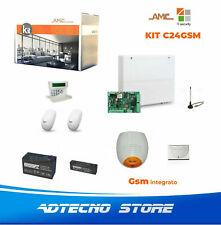 AMC KIT CENTRALE ANTIFURTO C24GSM PLUS+KLCDvoice, 2 Sensori, 2 Batterie, 2 Siren