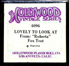 """HOLLYWOOD Vintage Series LOVELY TO LOOK AT """"Roberta"""" 4096 Player Piano Roll"""