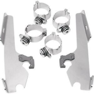 Memphis Shades Trigger-Lock Mount Kit for Batwing Fairing, Polished