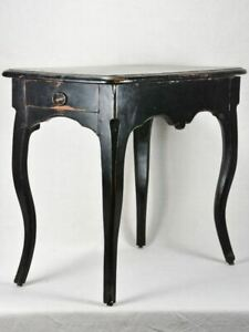 18th Century Louis XV desk with side drawer and black paint finish