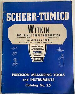 Scherr Tumico vintage catalog rare 1959 Precision measuring tools instruments