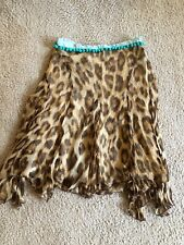 Bluemarine Cheetah Print Silk Skirt Size 40 US SIZE M