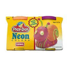 Vintage 1994 Playschool Play-Doh Neon Colors 2 Pack Green Orange Factory Sealed