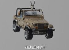 1993 Jeep Wrangler Sahara Open Top Custom Ornament 1/64 XJ YJ Sand Beige Tan