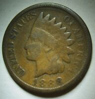 1888 Indian Head Cent in Average Circulated Condition    DUTCH AUCTION