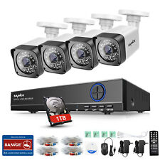 SANNCE 4CH 4x 720P Security 5in1 1TB DVR Outdoor Camera CCTV System Email Alarm